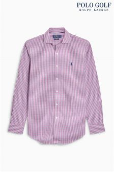 Ralph Lauren Golf Pink Check Shirt