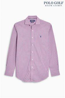 Ralph Lauren Golf Pink Check Shirt