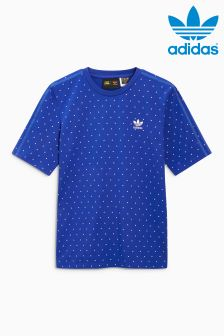 adidas Originals Blue Pharrell Williams Print T-Shirt