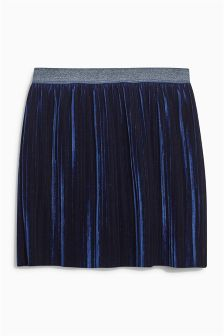 Velvet Pleat Skirt (3-16yrs)