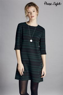 Phase Eight Green Sabrina Stripe Tunic Dress