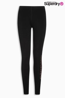 Superdry Black Glitter Legging