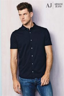 Armani Jeans Navy Short Sleeve Shirt