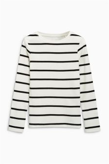 Long Sleeve Ribbed Top (3-16yrs)