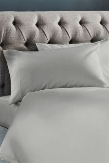 Set Of 2 300 Thread Count Soft & Silky Cotton Pillowcases