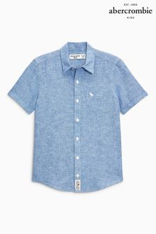 Abercrombie & Fitch Short Sleeve Linen Shirt