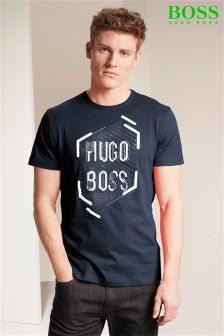 Hugo Boss Green Graphic T-Shirt
