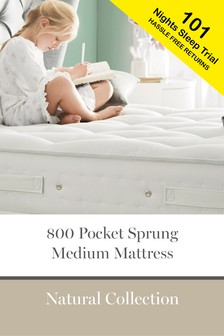 800 Pocket Sprung Natural Medium Mattress
