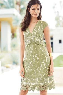 Green Lace Mix Dress