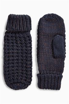 Popcorn Knitted Mittens