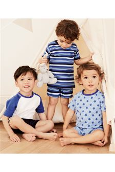 Stars/Stripe Short Pyjamas Three Pack (9mths-8yrs)