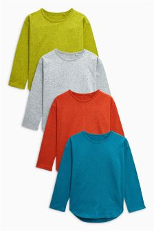 Neppy Long Sleeve T-Shirts Four Pack (3mths-6yrs)