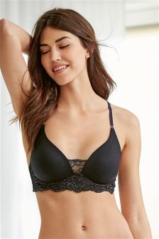 Premium Supersoft Non Wire Daisy Plunge Bra