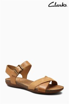 Clarks Tan Autumn Air Cushion Plus Sandal