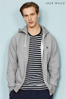 Jack Wills Grey Marl Pinebrook Zip Through Hoody