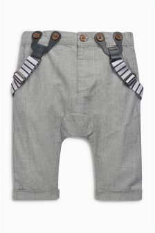 Textured Trousers And Braces (0mths-2yrs)