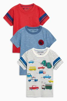 Short Sleeve Car T-Shirts Three Pack (3mths-6yrs)