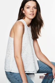 Hollister Lace Trim Blouse