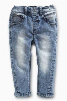 Light Blue Towel Wash Skinny Jeans (3mths-6yrs)