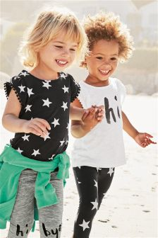 Frill T-Shirts Two Pack (3mths-6yrs)