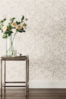 Paste The Wall Woodcut Natural Bird Print Wallpaper