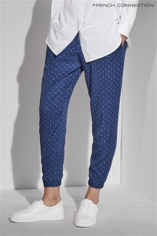 French Connection Blue Altman Drawstring Trouser