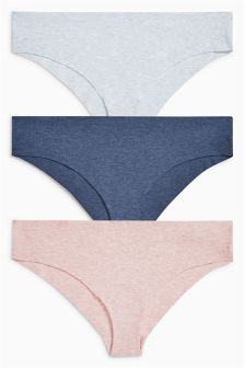 Cotton Free Cut Brazilian Briefs Three Pack