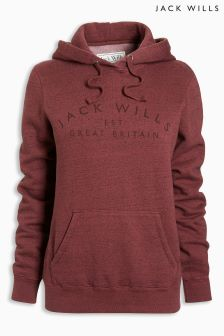 Jack Wills Dark Red Hunston Hoody