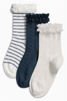 Ruffle Socks Three Pack (Older Girls)