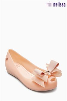 Kids Mel Dreamed By Melissa Nude Triple Bow Shoe