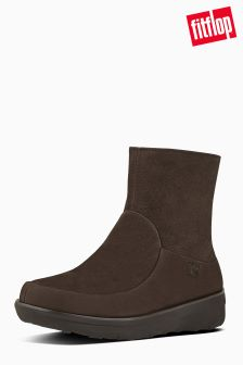 FitFlop™ Chocolate Brown Loaff Shorty Zip Boot