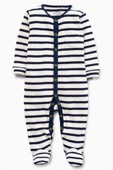 Stripe Waffle Sleepsuit (0mths-2yrs)