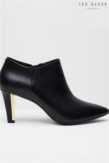 Ted Baker Black Pointed Ankle Boot
