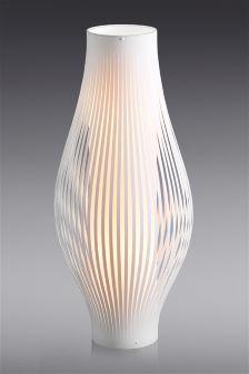 Aura White Floor Lamp