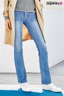 Superdry Bright Blue Zadie Flare Jean