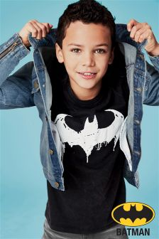Washed Batman® Slogan T-Shirt (3-14yrs)