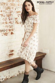 Ralph Lauren Denim & Supply Cream/Pink Floral Maxi Dress