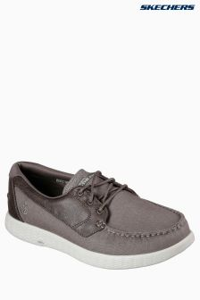 Skechers® Taupe On The Go Glide Boat Shoe