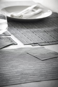 Set Of 8 Grey Placemats And Coasters