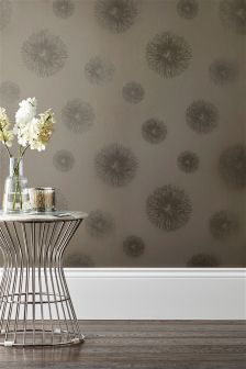 Paste The Wall Luxe Glitter Circle Wallpaper