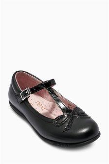 Black Patent T-Bar Shoes (Older Girls)