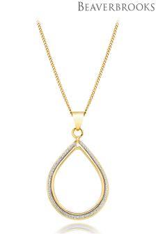 Beaverbrooks 9ct Gold Glitter Pendant