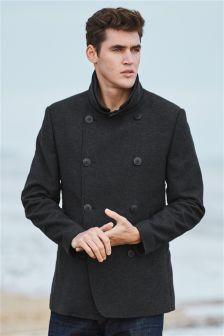 Moleskin Pea Coat