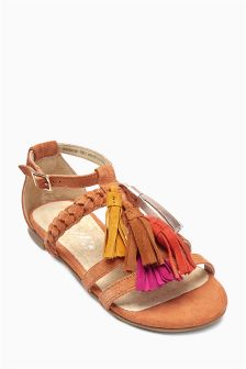 Ginger Tassel Sandals (Older Girls)