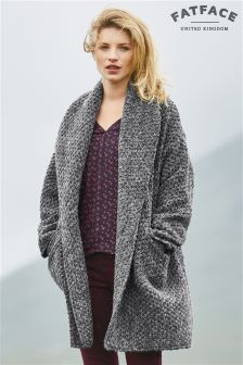 Fat Face Grey Sutton Textured Coat