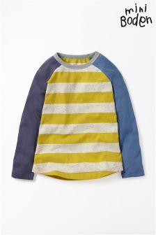 Boden Yellow Hotchpotch Raglan T-Shirt