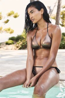 Bronze Triangle Bikini Top