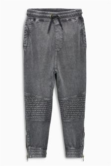 Washed Drop Crotch Biker Joggers (3-16yrs)