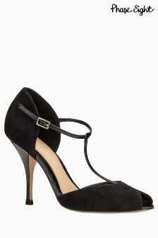Phase Eight Black Peep Toe Shoe