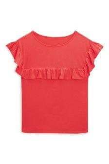 Ruffle Yoke T-Shirt